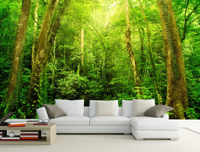 Home Decoration Bamboo 3d Wallpaper Living Room Interior