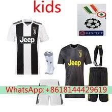 044067ecfdc best quality Home away Juventuses kids RONALDO DYBALA 2018 2019 HIGUAIN soccer  jersey football 2018 shirt