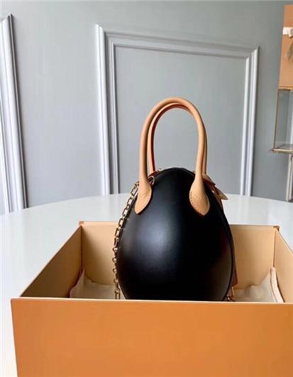 Dutiful Woman Handbags Top Grade Lady Brown Mono Genuine Oxidation Leather Handbag Women M44587 Dinosaur Egg Tote Lipstick Bag Home