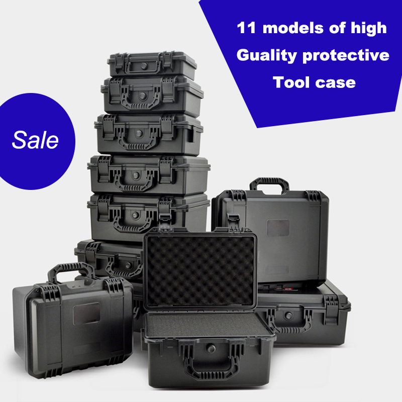 High quality waterproof Plastic box Photographic instrument Tool case Hardware toolbox Impact resistant sealed with pre-cut foam tool