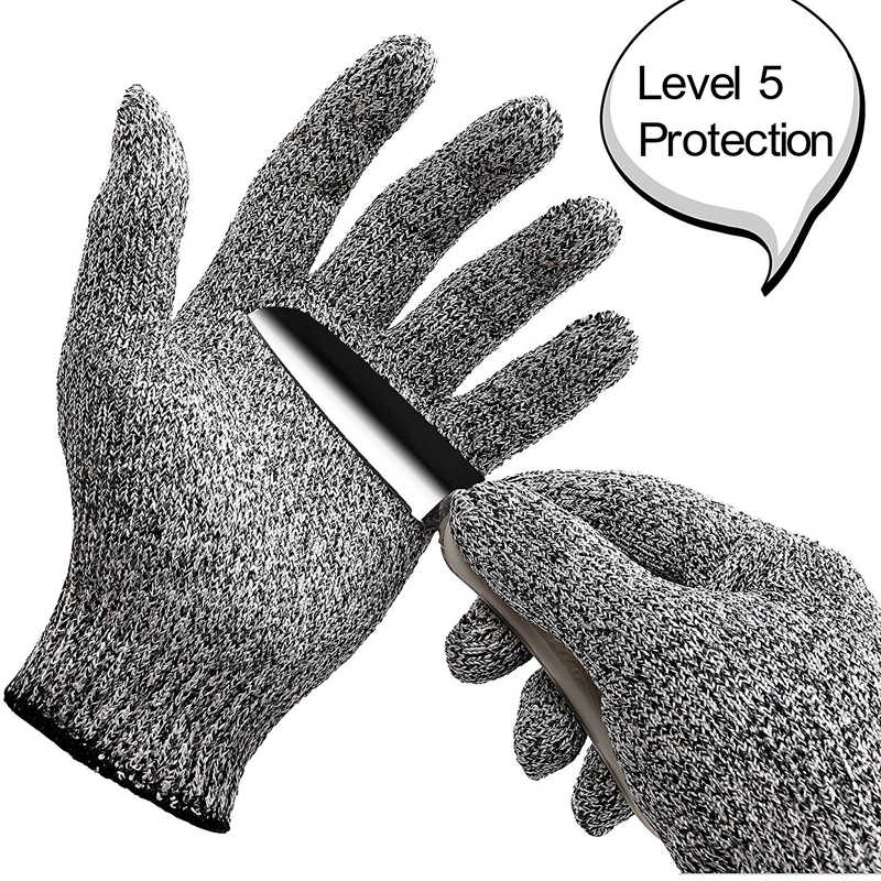 Anti-cut Outdoor Fishing Gloves Knife Cut Resistant Protection Fishing Hunting Gloves Steel Wire Mesh Gloves Fishing Tools