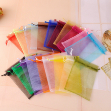 100Pcs Organza Bags Jewelry Packaging Sachet Bags Wedding Event Decoration Supplie 7x9 9x12 10x15 11x16 13x18 15x20 17x23cm