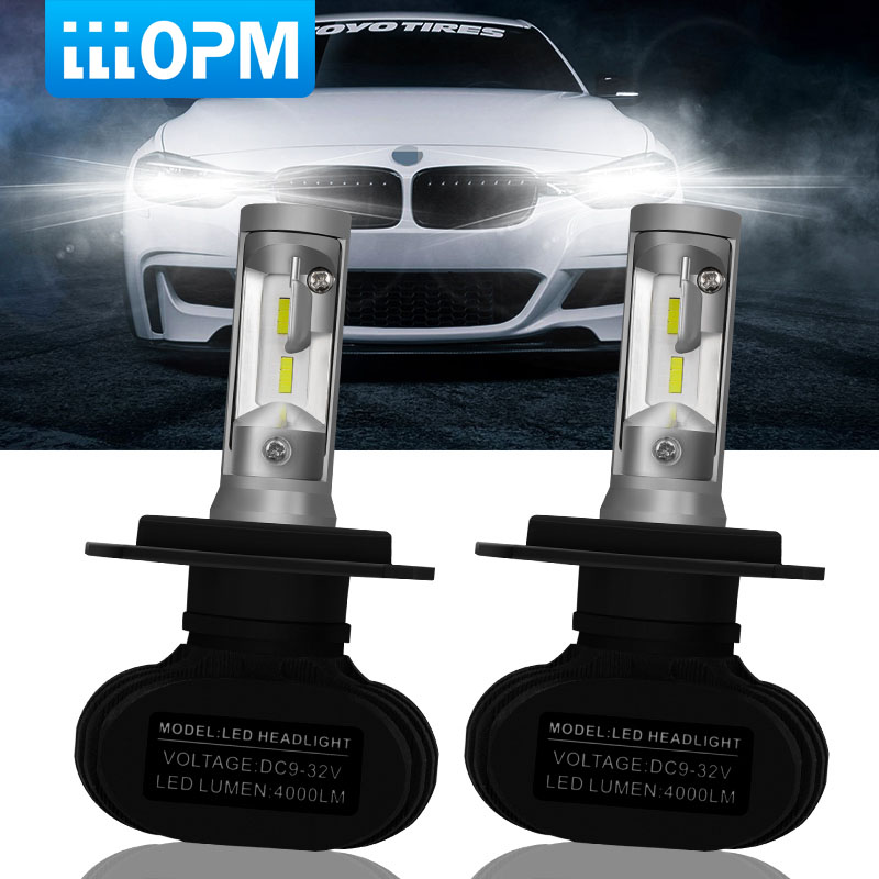 2 stücke H7 LED H4 Auto Auto Scheinwerfer 9005 9006 H3 H13 H8 880 H27 9004 9007 H11 LED H1 s1 50 watt 8000LM 6500 karat Automobil Birne CSP Lampe