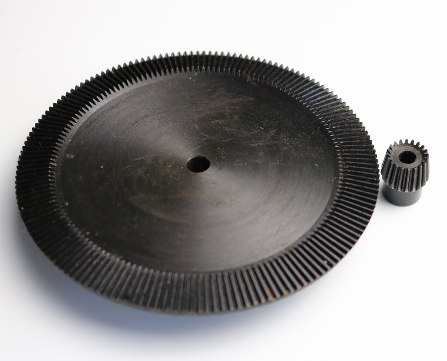 1Set 0.8M-20/140T Speed ratio-1:7 Precision Umbrella Bevel Gear -Diameter:17.5 mm/111mm (hole d:6mm)