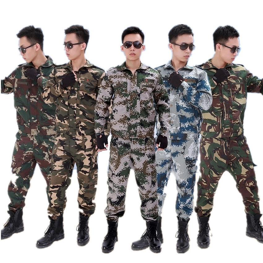 US Army Combat-Proven Tactical Clothing Military Uniform Camouflage Colors Battle Rapid Camping Battle Equipment Top+pants Set