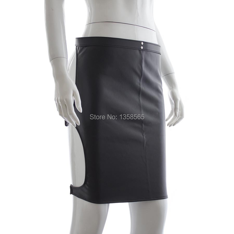 Black Sexy Costumes Faux Leather Bodysuit Corset Skirt Lady Apron Adult Games Sex Products For Womens
