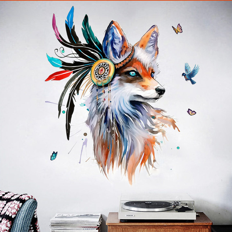 Boho Style Fox Removable Wall Sticker 10