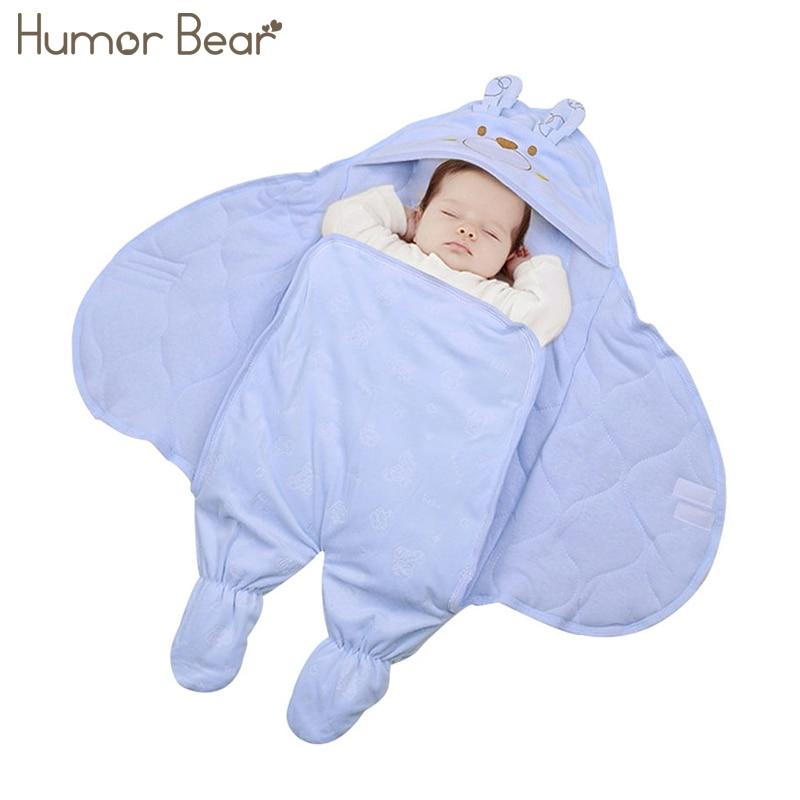 Humor Bear Baby Sleeping Bag Winter Envelope For Newborns Sleep Thermal Sack Cotton Kids Sleeping Bag