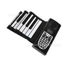 New 61 Keys Flexible Foldable Soft Portable Electric Digital Roll-up Keyboard Piano For Musical Keyboard Instruments Lover Gift