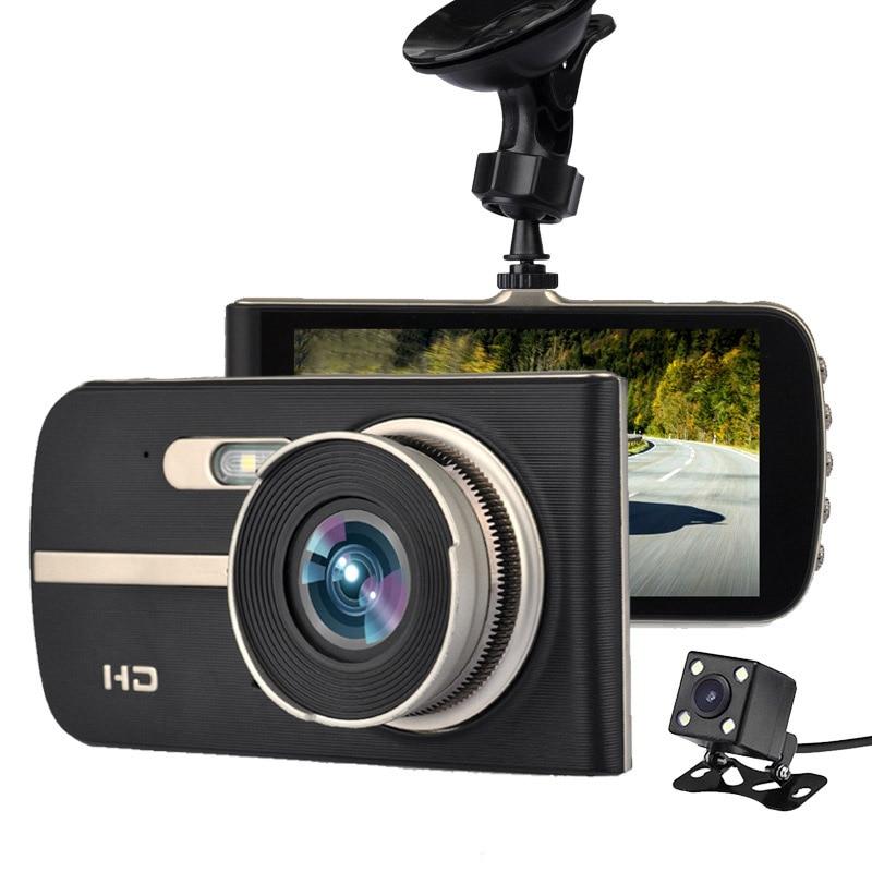 2017 New Super HD 1080P Front + VGA Rear Super Wide Angle Car Dash Cam with 4