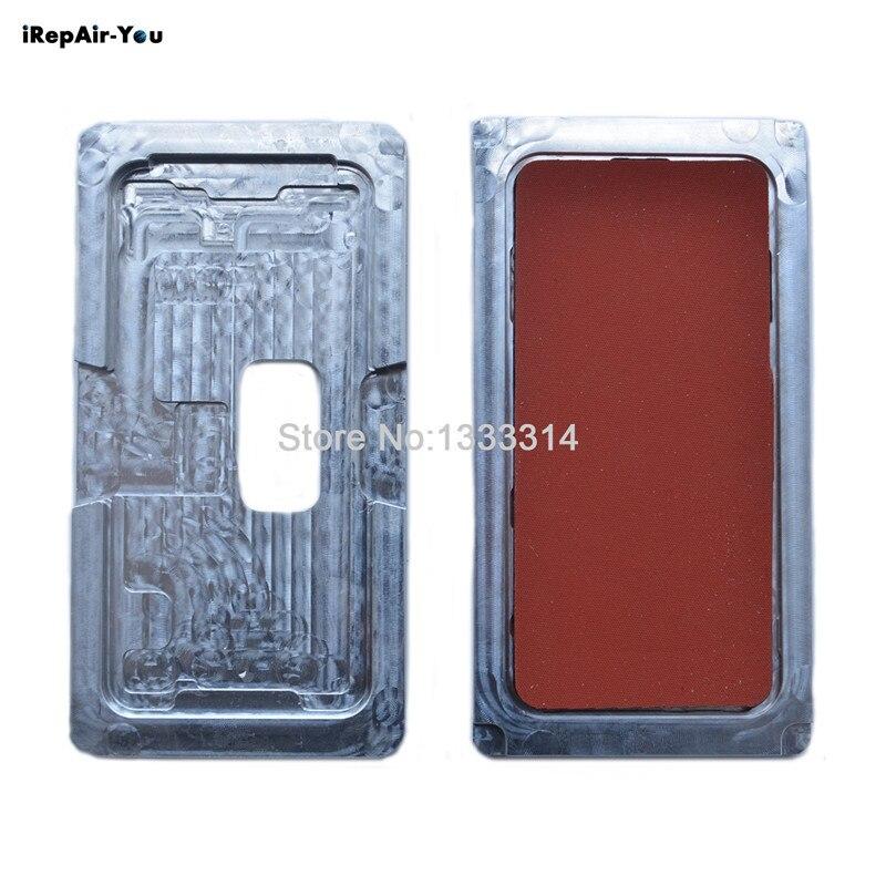 IRepair-Vous 1 Set Moule En Aluminium Avec Tapis Pour iPhone X Métal Moule LCD Écran Lentille Positionnement Alignement Et laminage Mat