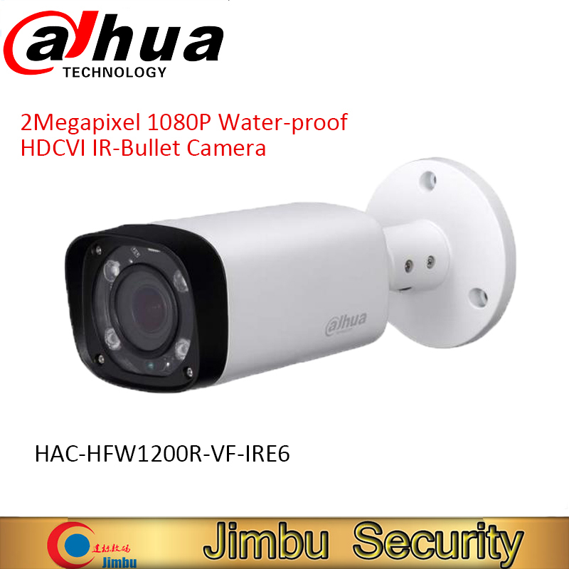 DAHUA HDCVI Bullet Camera 1/2.7 2Megapixel CMOS 1080P IR 30M IP67 2.7~12mm vari-focal lens HAC-HFW1200R-VF-IRE6 security camera dahua camaras de seguridad dahua hdcvi dome camera 1 2 7 2megapixel cmos 1080p ir 40m ip66 dh hac hdw1200e a security camera