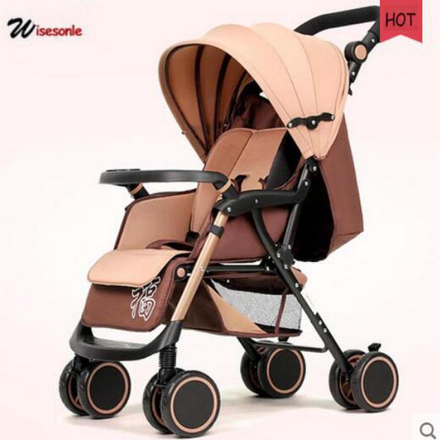 Wisesonle Fácil dobrar carrinho de bebê com super à prova de choque 5.6 kg ultra luz do pram do bebê