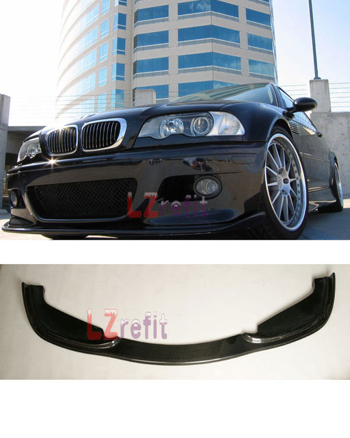 US $228 0 |HM CARBON FIBER FRONT BUMPER LIP SPOILER For BMW E46 M3 3 Series  1998 2005-in Bumpers from Automobiles & Motorcycles on Aliexpress com |
