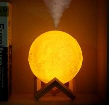 FDIK 880 мл Увлажнитель Воздуха 3D Луна свет лампы диффузор аромат эфирные масла USB Ультразвуковой Humidificador ночь Прохладный очиститель воздуха