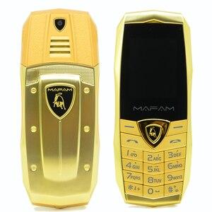 Image 4 - MAFAM A18 ロシア語アラビア語スペインフランス振動高級金属ボディ車のロゴデュアル sim gsm 中国の携帯電話在庫