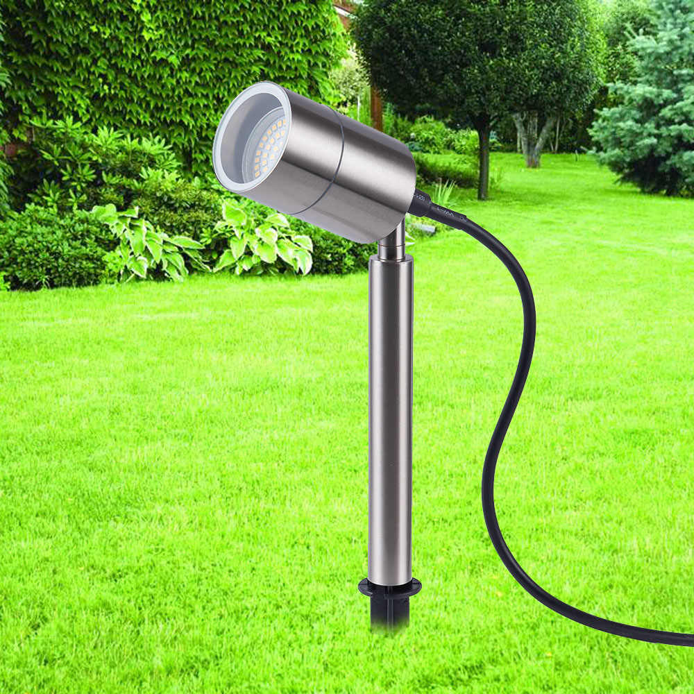 Stainless steel Outdoor led spike light 220V 110V 12V LED lawn lamp 3W 5W 7W 9W led garden Path Landscape spot lighting