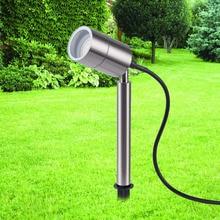 Stainless steel Outdoor led spike light 220V 110V 12V LED lawn lamp 3W 5W 7W 9W garden Path Landscape spot lighting