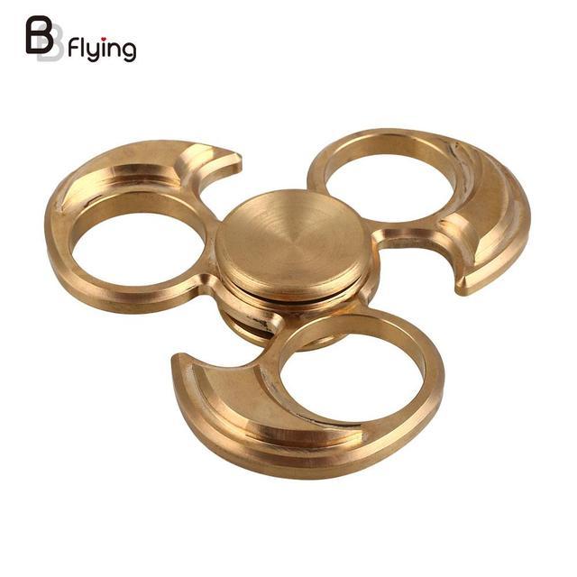 Fidget Spinner EDC HandSpinner Metallic Copper Custom Fidget Toys Golden