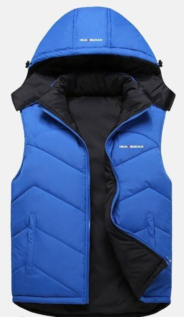 New Arrival Brand Men Sleeveless  Winter Casual Vest Cotton-padded Slim Men's Vest Thickening Waistcoat outerwear