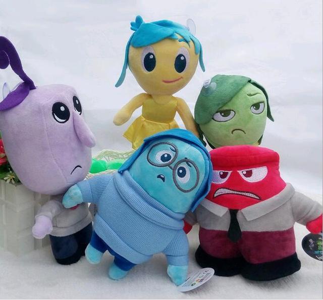 5psc/lot горячая 23 см Pixar Фильм Наизнанку плюшевые игрушки мультфильм Печаль Радость Страх Отвращение кукла Рождество подарки для детей
