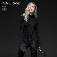 2015 Punk Rave Retro Punk Rockabilly Gothic Bandage Vintage Top Shirt Cotton Women Fashion S 4XL