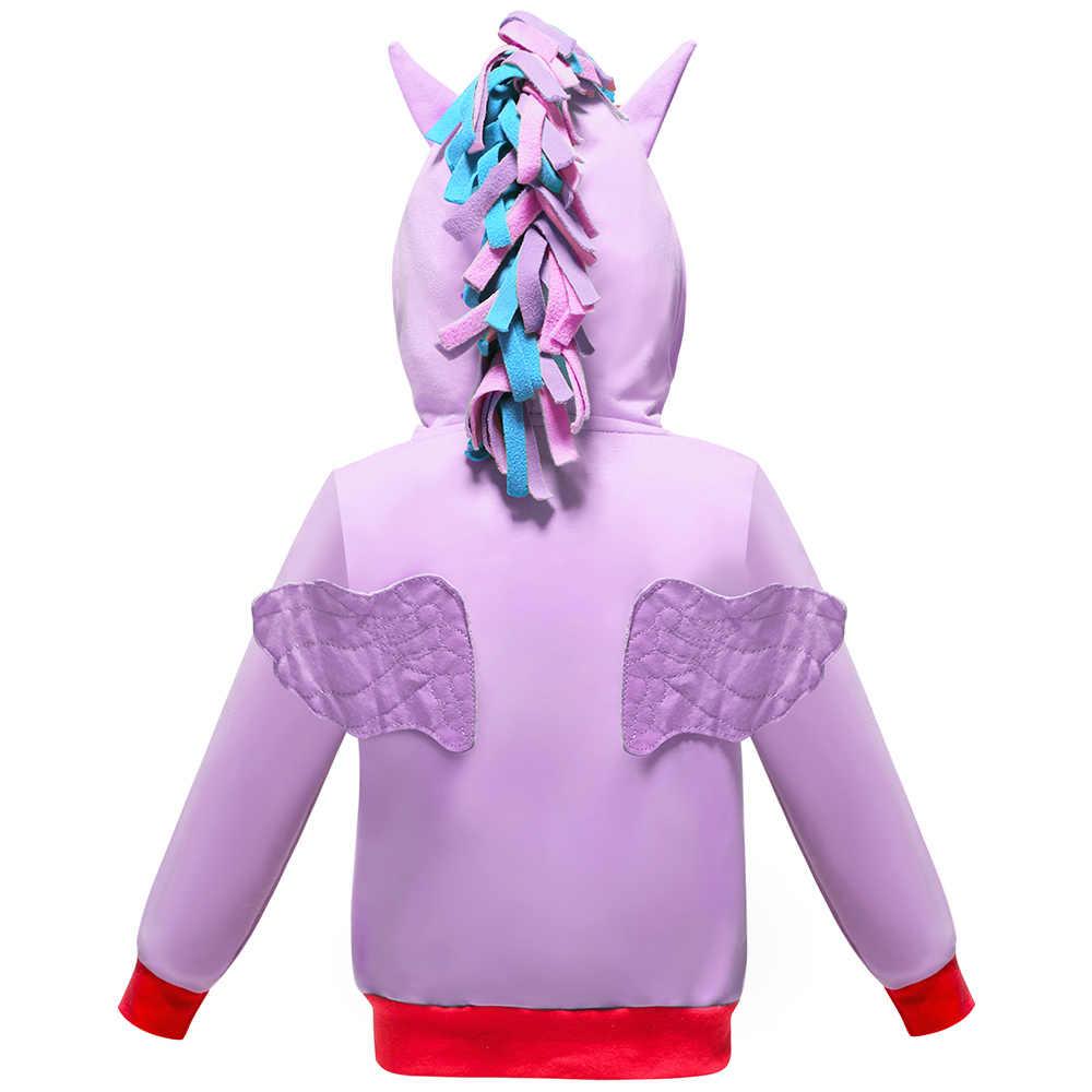 אביב 2019 בנות נים שלי קטן Poli ילדים סווטשירט מעילי תינוק הסווטשרט חמוד פוני סגנון מעיל רוח ספורט בלייזר הלבשה עליונה