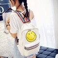Moda Saco Saco de Lona Mochila de Viagem Mochila Escolar Mochila Women'Men Emoji Emoji Emoji Mochila Escola Bags para Meninas