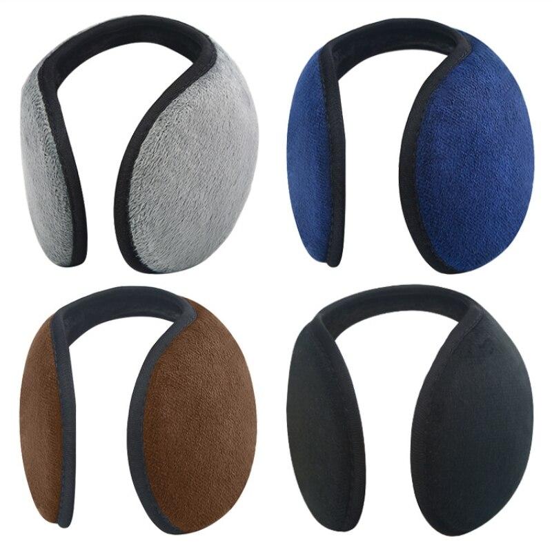 Unisex Solid Earmuffs Women Men Ear Cover Protector Thicken Plush Soft Winter Warm Earmuff Warmer Apparel Accessories