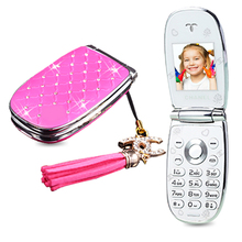 MAFMA W11 России Флип прекрасный разблокирована алмаз маленькие женщины дети девушки алмаз мило мини мобильный телефон сотовый телефон P451
