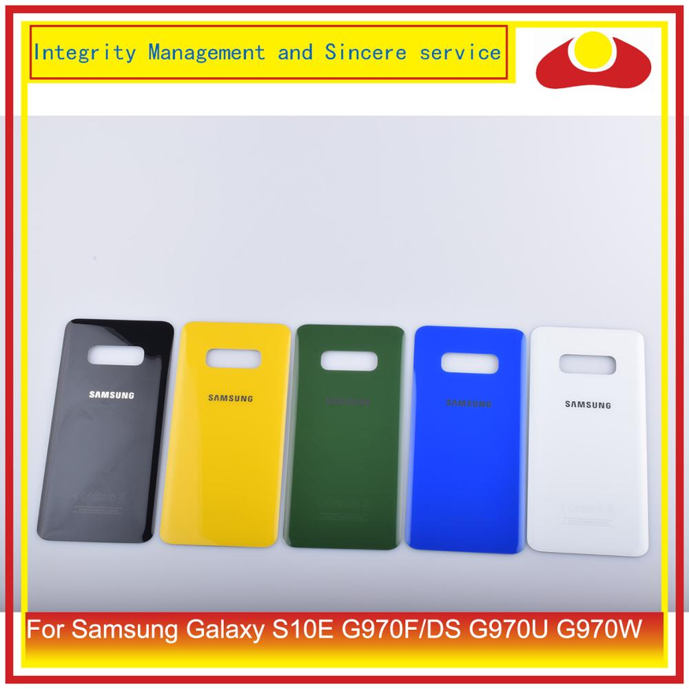 10Pcs/lot For Samsung Galaxy S10E G970F/DS G970U G970W Housing Battery Door Back Glass Cover Case S10E Chassis Shell Replacement image