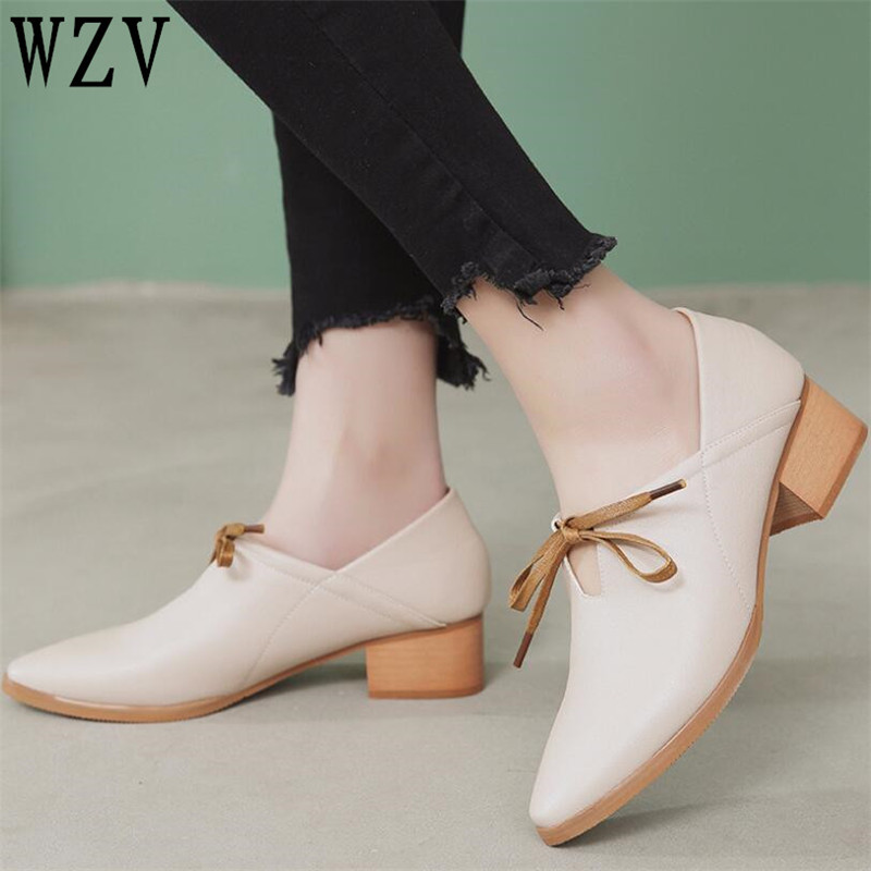 Genuine leather Lace-Up flat shoes women handmade Color matching Patent leather pointed toe shoes woman Classic style shoes 2018the new women s patent leather and shoes classic korean version of the classic korean shoes red wedding shoes