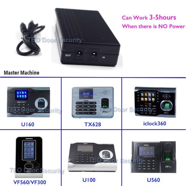 US $31 34 5% OFF|UPS for ZK Software U160 ZKTeco TX628 iclock360 VF360 5V  Mini Fingerprint Time Attendance Battery for Recorder when Power Off-in