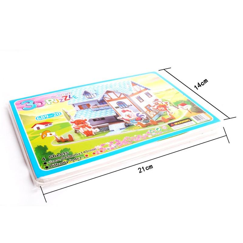 Children DIY 3D Assembled House Toy Manual House Simulation  Villa Puzzle Castle Building Fun Puzzle Foam Board For Kids Gift 6