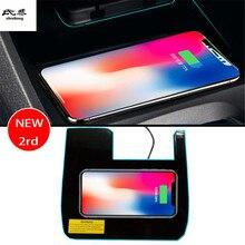 2RD Быстрый специальные на борту беспроводной зарядки телефона панели автомобильные аксессуары для Honda Civic 10th MK10 2016 2017 2018