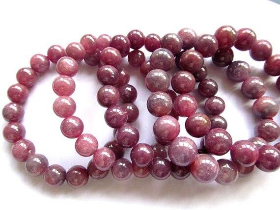 Genuine Raw Ruby Bracelet Beads Gemstone Aa Grade 5 6 7 8 9 10