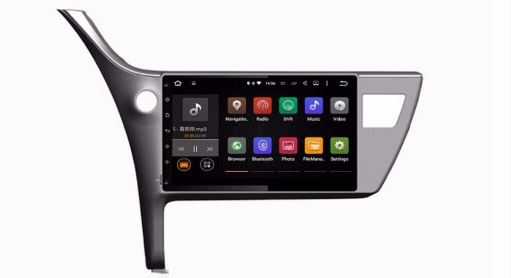 10.1 inch Android 7.1 Car DVD GPS for <font><b>Toyota</b></font> <font><b>Corolla</b></font> 2017 <font><b>2018</b></font> Autoradio GPS 2 din in Dash Car Radio GPS <font><b>Multimedia</b></font> Head unit PC image