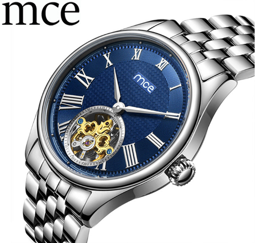 Mens Watch Skeleton Automatic Mechanical Man Watches Stainless Band Business Men Wristwatch Relogio Masculino Casual MCE ClockMens Watch Skeleton Automatic Mechanical Man Watches Stainless Band Business Men Wristwatch Relogio Masculino Casual MCE Clock
