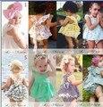 Ins 2016 Conjuntos de Bebê Menina Moda Verão Floral Doce Infantil Conjuntos de Roupas de Bebê Crianças Menina Stirped Conjuntos Criança Bonito 6 M-3 T