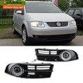 EeMrke LEVOU Angel Eyes Luzes Diurnas Para Volkswagen VW Caddy Luz De Nevoeiro Lâmpadas H11 Luz Halógena 55 W