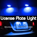 2PCS Blue W5W  T10 158 161 168 194 2825 3652 8- SMD LED LIGHT BULBS NUMBER LICENSE PLATE TAG LIGHTS