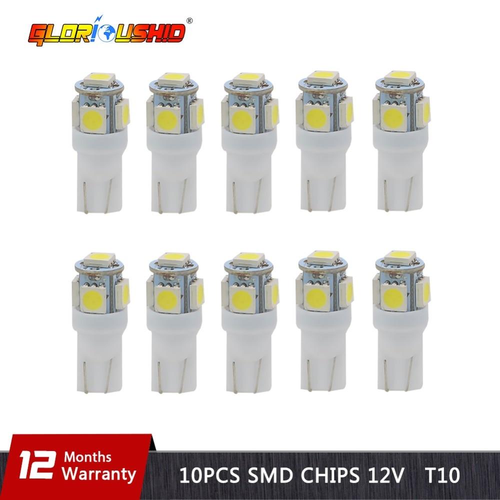 10 pcs LED T10 W5W 5050 5SMD...