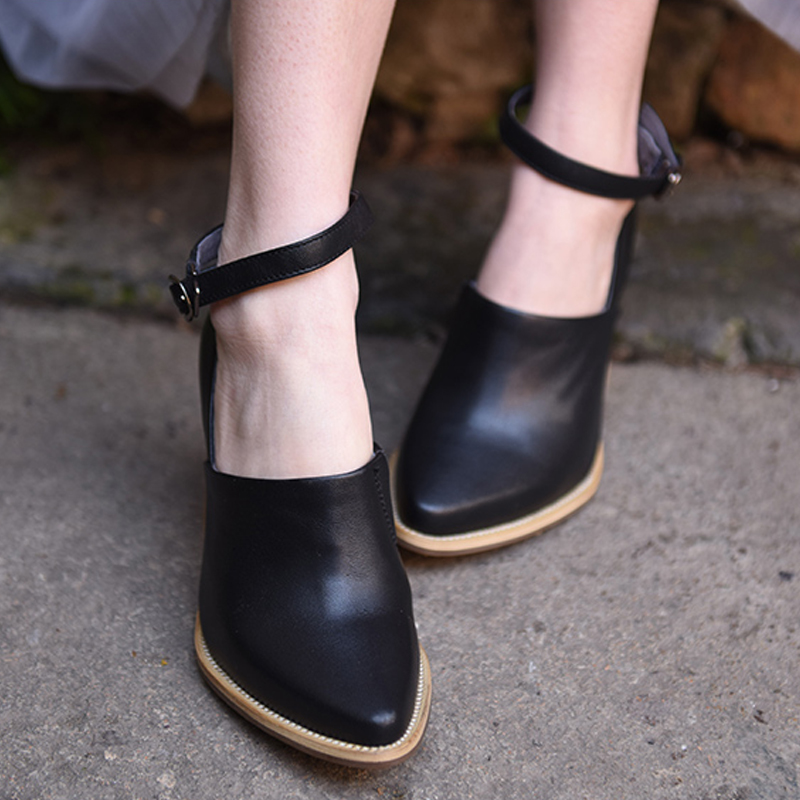 Artmu Fashion Women Shoes Pumps 8 cm High Heels Cowhide Woman Pumps Shoes Female Pointed Toe