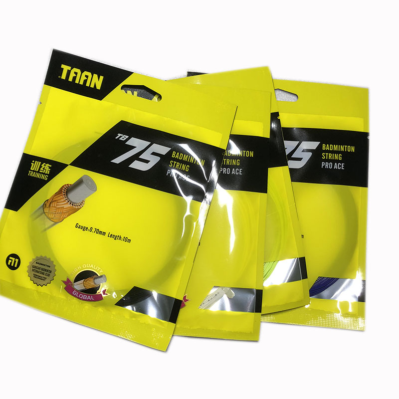 10pcs TAAN PRO ACE BT75 Badminton Racket String Durable Training String Badminton Racquet TB75  0.70mm 10M