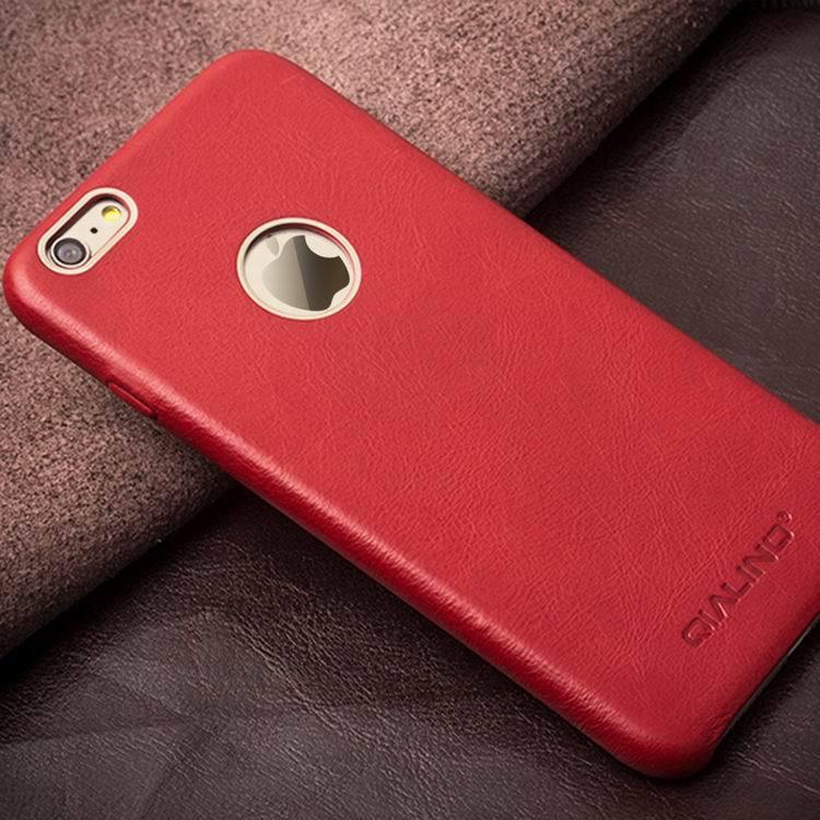 QIALINO Kulit Asli Kasus Telepon untuk iPhone 6 & 6 s Kulit Betis - Aksesori dan suku cadang ponsel - Foto 6