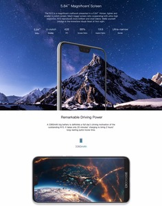 Image 4 - DOOGEE N10 Mobile Phone 16.0MP Front Camera 3360mAh Android 8.1 4G LTE Octa Core 3GB RAM 32GB ROM 5.84inch FHD+ 19:9 Display OTG