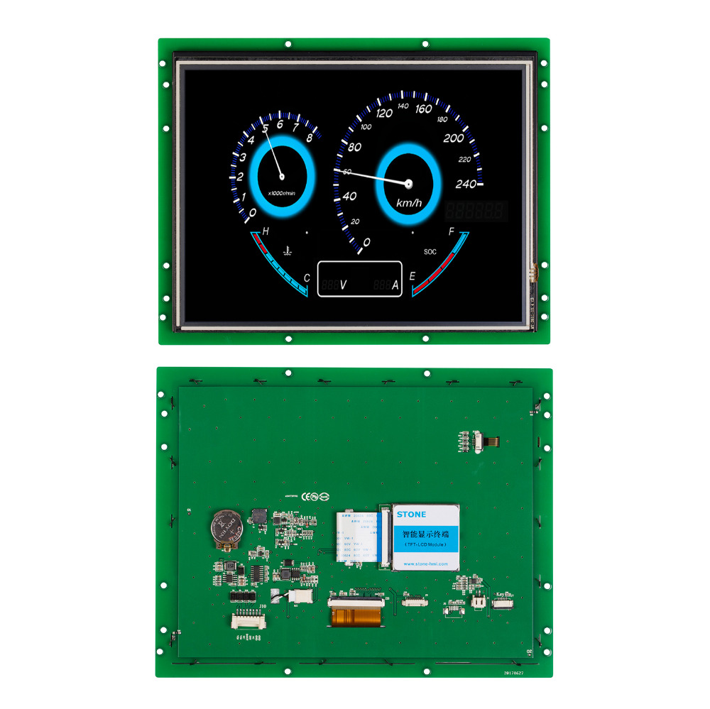 10.4 Inch HMI 800*600 TFT LCd UART HD STONE Brand Full Color Screen With RS232/USB
