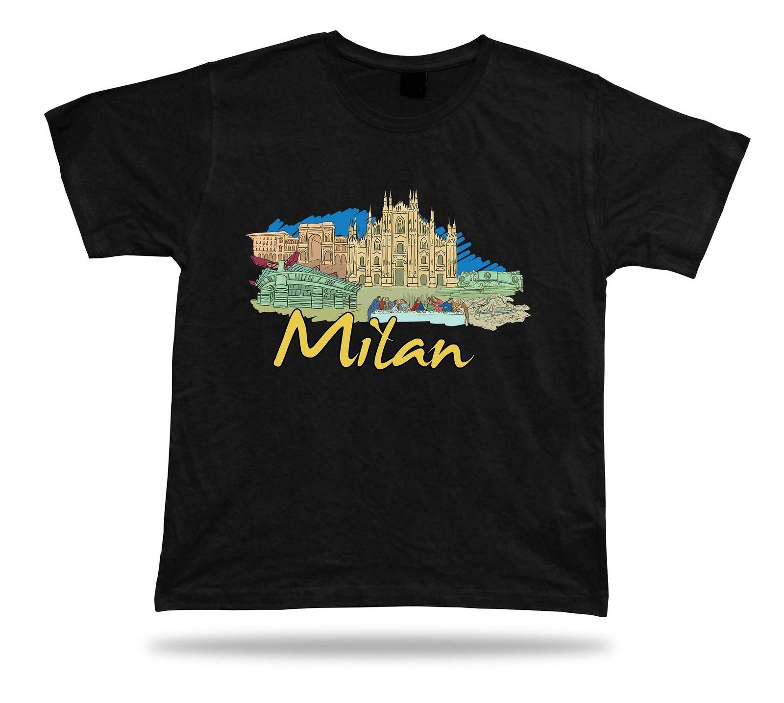 Milan Cathedral Cenacolo Vinciano Galleria Vittorio Emanuele II tee t-shirt gift