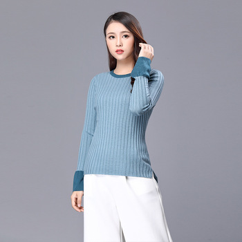 baby blue turtleneck sweater women Korean style fem me 2019 Autumn winter knitwear pull over plus size thin soft long sleeve