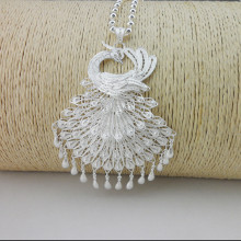 Peacock Necklaces Pendants 999 Sterling Silver Pendant Drop Ornaments Handmade Jewelry Ethnic Women Silver Pendant Necklace недорого